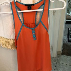 Tops - Blue and orange tank top